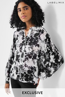 Mix/Caroline Issa/A.W.A.K.E. Mode Floral Print Shirt