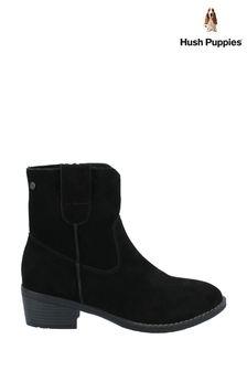 Hush Puppies Black Iva Ladies Ankle Boots