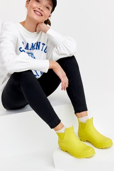 Yellow Ankle Wellies