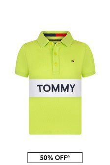 Tommy Hilfiger Boys Lime Cotton Polo Top