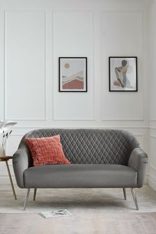 Hamilton Small Sofa With Chrome Legs