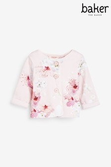 Baker by Ted Baker Baby Girls Floral Jersey Jacket