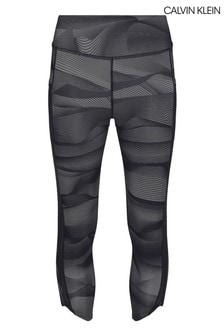 Calvin Klein Black Cropped Tights