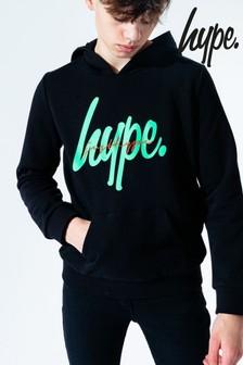 Hype. Kids Black Emerald JH Tape Pullover Hoody