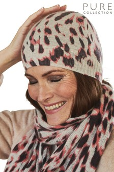 Pure Collection Animal Cashmere Hat