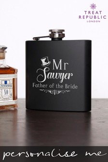 Personalised Father Of The Bride Hip Flask by Treat Republic