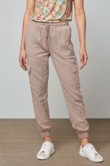 Mink Tencel™ Blend Cargo Trousers