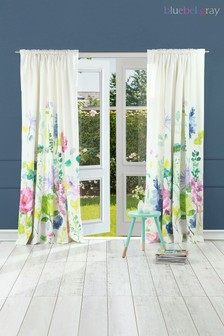 Bluebellgray White Tetbury Meadow Curtains