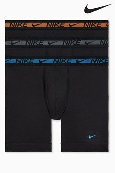Nike Black Flex Micro Boxer Briefs 3 Pack