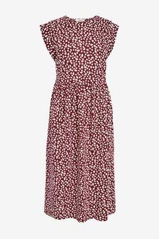 Berry Print T-Shirt Dress