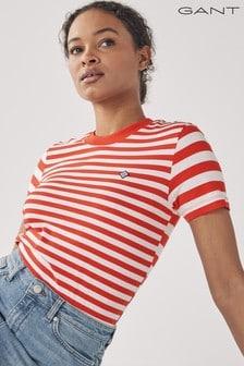 GANT Lava Red Striped T-Shirt