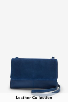 Cobalt Blue Leather Across Body Bag