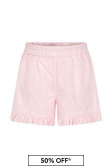 Monnalisa Baby Girls Pink Cotton Shorts