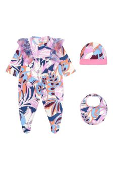 Emilio Pucci Baby Girls Purple Cotton Gift Set