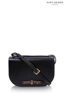 Kurt Geiger London Black Chelsea Saddle Bag