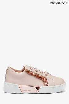 Michael Kors Pink Frill Stretch Trainers