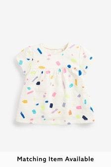 White Bright Paint Cotton T-Shirt (3mths-7yrs)