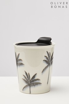 Oliver Bonas Palma Small Ceramic Travel Coffee Cup