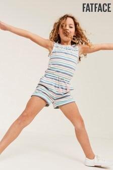 FatFace Blue Stripe Jersey Playsuit