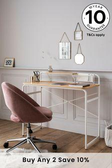 White Elliot Desk