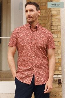 Mallow Slim Fit Short Sleeve Morris & Co. at Next Signature Print Shirt