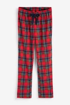 Red Check Cosy Pyjama Bottoms