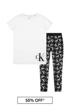 Calvin Klein Underwear White Cotton Pyjamas