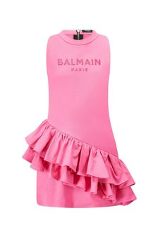 Balmain Girls Pink Cotton Dress