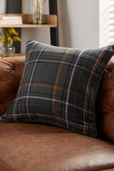 Green Cedar Check Cushion