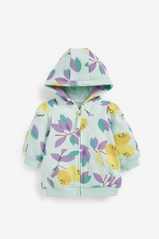 Turquoise Lemons Hoody Soft Touch Jersey (3mths-7yrs)