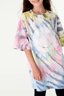 Multi Tie Dye Smile T-Shirt (3-16yrs)