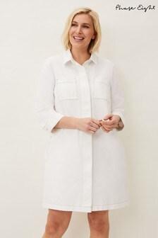 Phase Eight Cream Katie Denim Dress