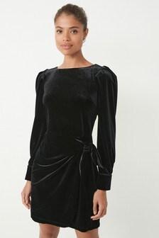 Black Velvet Mini Dress