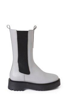 Steven New York White Peppal Tall Boots