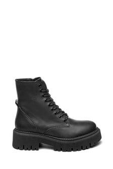 Steven New York Black Saria Chunky Boots