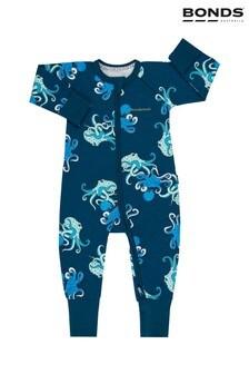 Bonds Grey Floating Octopus Sleepsuit