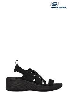 Skechers Black Pier-Lite Summer Sandals