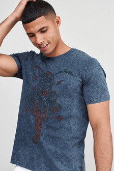 Navy Bike Graphic T-Shirt