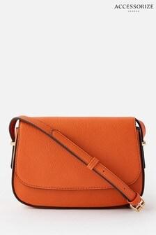 Accessorize Orange Ruby Saddle Cross Body Bag