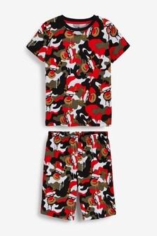 Reindeer Camouflage Christmas Short Pyjamas (1.5-16yrs)
