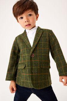 Green Heritage Check Blazer (3mths-9yrs)