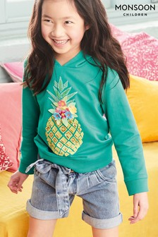 Monsoon Sequin Pineapple Hoodie