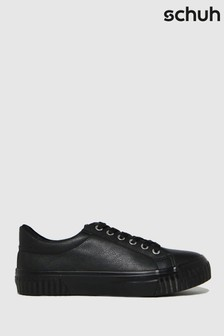 Schuh Black Maddie Lace Up Trainers