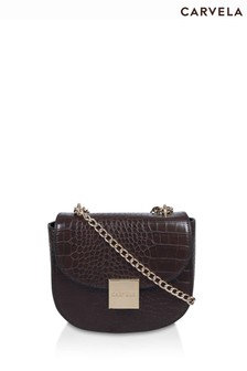 Carvela Brown Jill Saddle Cross Body Bag