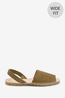 Khaki Regular/Wide Fit Beach Sandals
