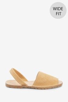 Camel Regular/Wide Fit Beach Sandals