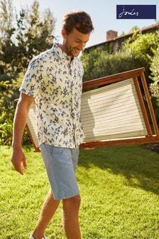 Joules Lloyd Slub Short Sleeve Classic Fit Printed Shirt