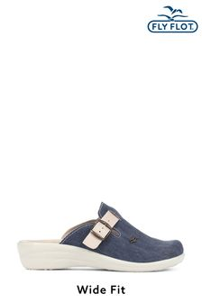 Fly Flot Blue Ladies Wide Fit Lightweight Anatomic Clogs