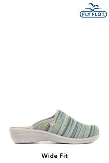 Fly Flot Green Ladies Wide Fit Anatomic Lightweight Clogs