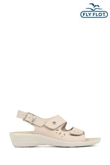 Fly Flot Natural Ladies Fully Adjustable Leather Sandals